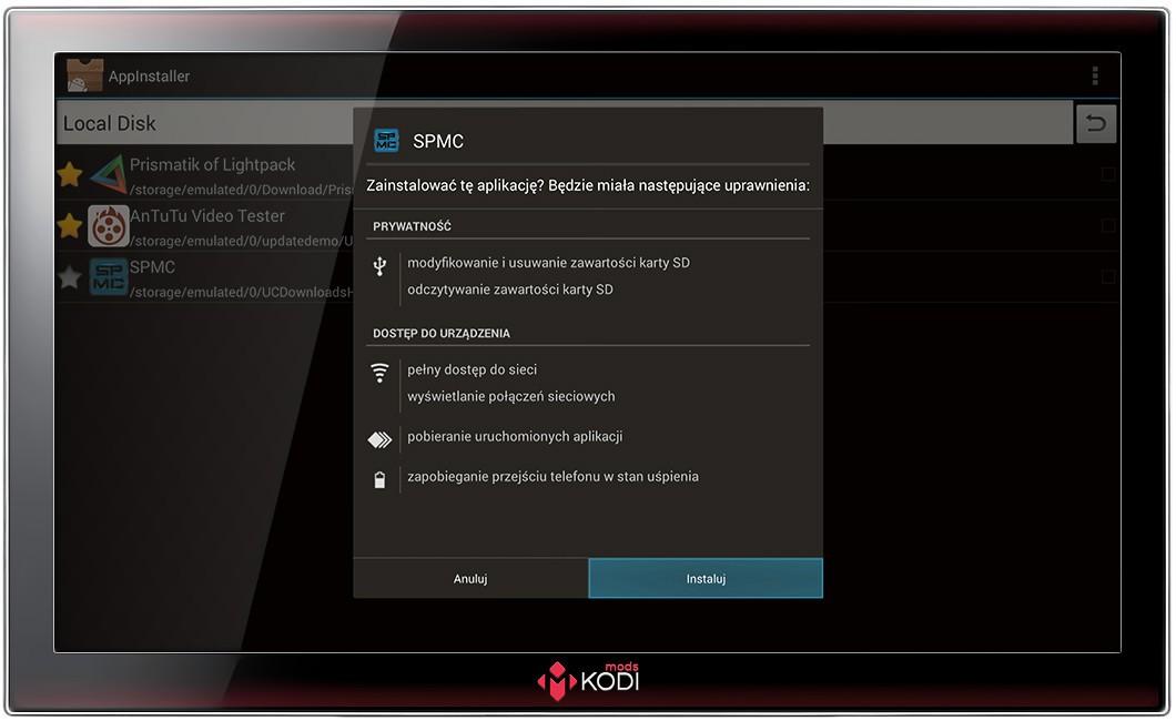 Mods-KODI - przygotowanie Kodi jako dekodera IPTV na Android-Box